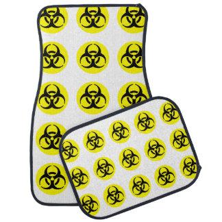 Símbolo amarillo del BioHazard Alfombrilla De Auto