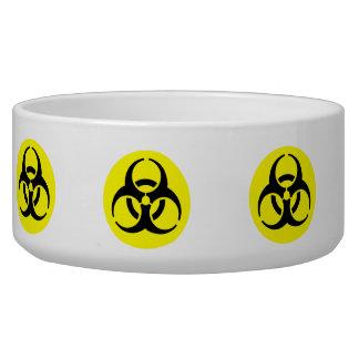 Símbolo amarillo del BioHazard Bol Para Perro