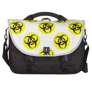 Símbolo amarillo del BioHazard Bolsa De Ordenador