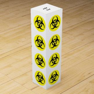 Símbolo amarillo del BioHazard Caja Para Botella De Vino