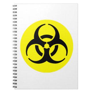 Símbolo amarillo del BioHazard Libretas Espirales