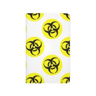 Símbolo amarillo del BioHazard Cuaderno Grapado
