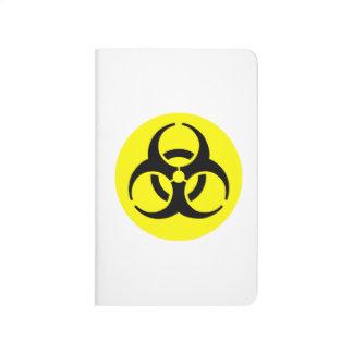 Símbolo amarillo del BioHazard Cuadernos Grapados