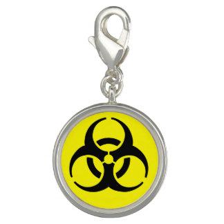 Símbolo amarillo del BioHazard Dije Con Foto