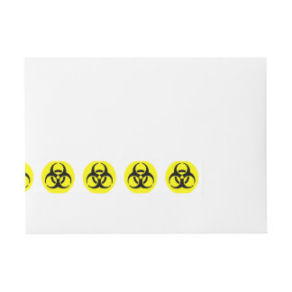 Símbolo amarillo del BioHazard Etiquetas Postales