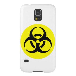 Símbolo amarillo del BioHazard Carcasas De Galaxy S5