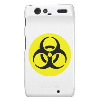 Símbolo amarillo del BioHazard Motorola Droid RAZR Carcasas