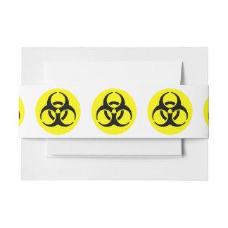 Símbolo amarillo del BioHazard Lazos Para Invitaciones De Boda