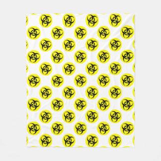 Símbolo amarillo del BioHazard Manta De Forro Polar