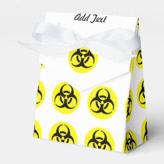 Símbolo amarillo del BioHazard Paquete De Regalo Para Fiestas