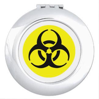Símbolo amarillo del BioHazard Espejos Para El Bolso