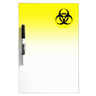Símbolo amarillo del BioHazard Pizarra
