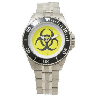 Símbolo amarillo del BioHazard Reloj De Mano
