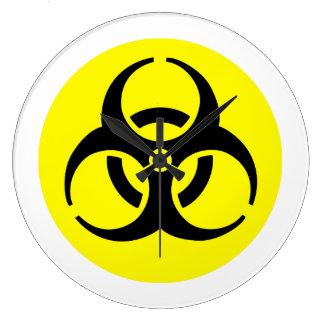 Símbolo amarillo del BioHazard Relojes