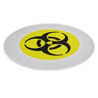 Símbolo amarillo del BioHazard Tablas De Cortar