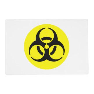 Símbolo amarillo del BioHazard Tapete Individual