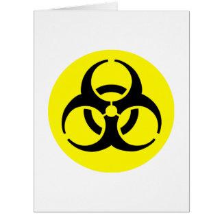 Símbolo amarillo del BioHazard Tarjeta De Felicitación Grande
