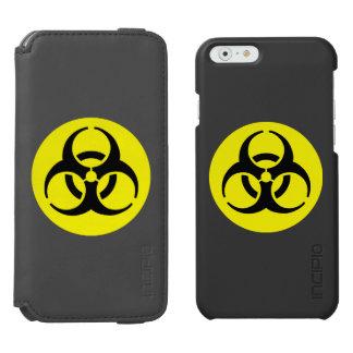 Símbolo amarillo del BioHazard Funda Cartera Para iPhone 6 Watson