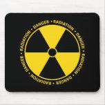 Símbolo amarillo Mousepad de la radiación Tapetes De Raton