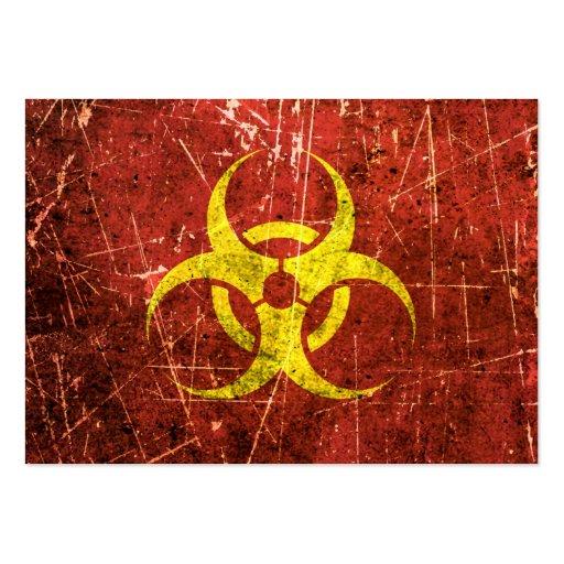Símbolo amarillo y rojo rasguñado y llevado del Bi Plantilla De Tarjeta Personal
