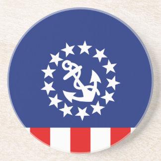 Símbolo americano náutico de la bandera del yate posavasos personalizados