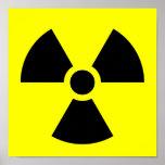 Símbolo amonestador de la radiación impresiones