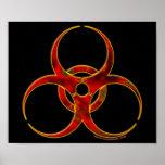 Símbolo amonestador del Biohazard Impresiones
