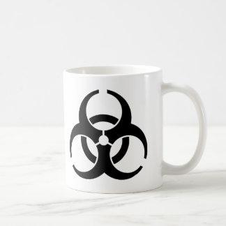 Símbolo amonestador del Biohazard internacional Tazas De Café
