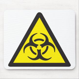 Símbolo amonestador del Biohazard Tapete De Ratones