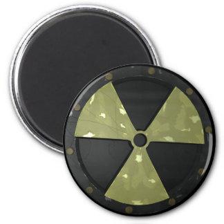 Símbolo amonestador radiactivo imán redondo 5 cm