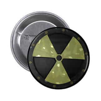 Símbolo amonestador radiactivo pin