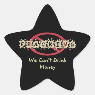 Símbolo anti de Fracking Calcomanía Forma De Estrellae