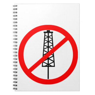 Símbolo Anti-Fracking Cuadernos