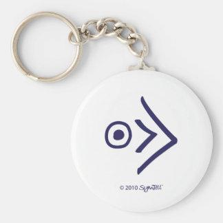 Símbolo apasionado púrpura de Symtell Llavero Redondo Tipo Pin