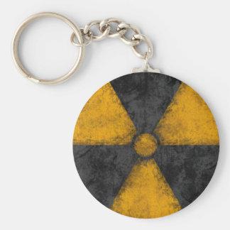 Símbolo apenado de la radiación llavero redondo tipo pin