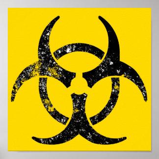 Símbolo apenado del biohazard impresiones