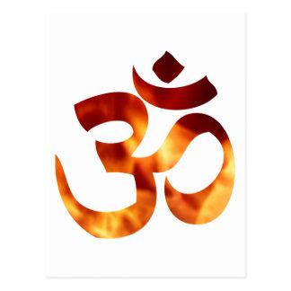 Símbolo ardiente de la yoga postales