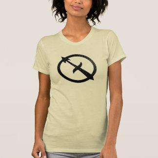 Símbolo astrológico apenado del sagitario tshirts