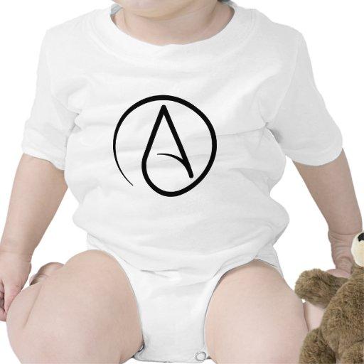 Símbolo ateo negro básico traje de bebé