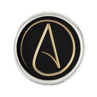 Símbolo ateo pin