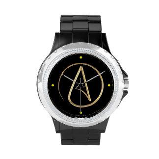 Símbolo ateo reloj