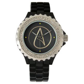 Símbolo ateo relojes de mano