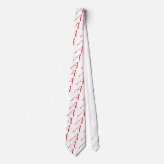Símbolo ateo (rojo A) Corbata Personalizada