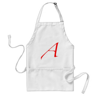 Símbolo ateo (rojo A) Delantal
