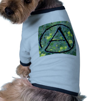 Símbolo ateo camisas de mascota