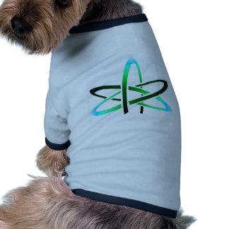 Símbolo ateo camiseta de perro