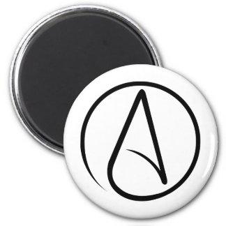 Símbolo ateo universal imán redondo 5 cm