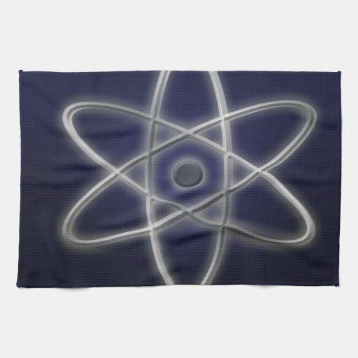 Símbolo atómico toallas de cocina