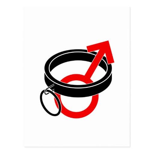 Símbolo auxiliar masculino postales