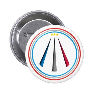Símbolo Awen Neo druida bardo Pin Redondo De 2 Pulgadas